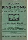Bib No. 33 – MODERN PING PONG AND HOW TO PLAY IT