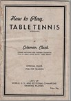 Bib No. 353 – HOW TO PLAY TABLE TENNIS